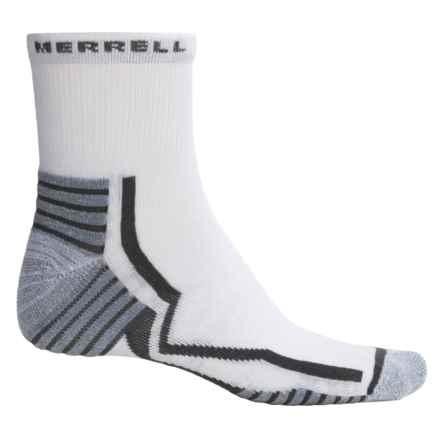 Merrell Trail Gloves Elite Running Socks - 3/4 Crew (For Men) in White/Grante - Closeouts