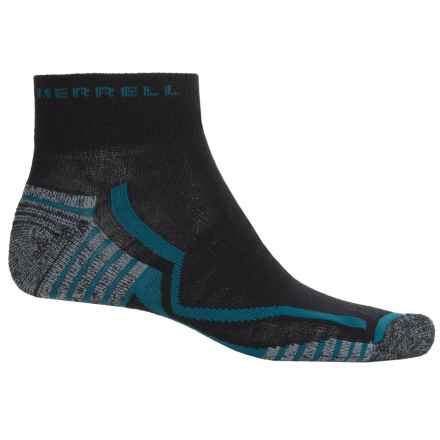 Merrell Trail Gloves Elite Trail Running Socks - Ankle (For Men) in Black/Mallard - Closeouts