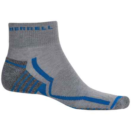 Merrell Trail Gloves Elite Trail Running Socks - Ankle (For Men) in Grey/Snorkel Blue - Closeouts