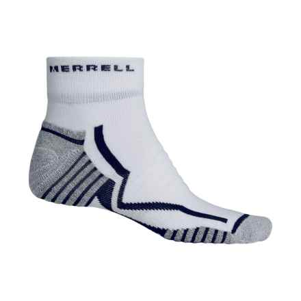 Merrell Trail Gloves Elite Trail Running Socks - Ankle (For Men) in White/Poseidon - Closeouts
