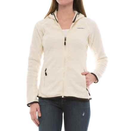 Merrell Trailhead Hooded Polartec® Fleece Jacket - Full Zip (For Women) in Eggshell - Closeouts