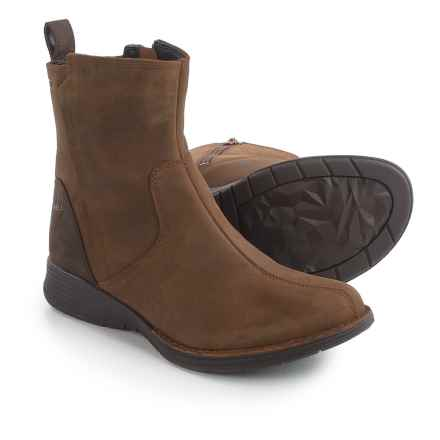 Merrell Travvy Ankle Rain Boots - Waterproof, Leather (For Women) in Merrell Tan - Closeouts