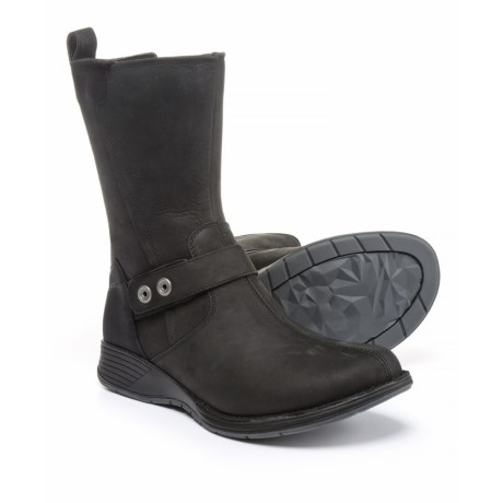 Merrell Travvy Mid Boots - Waterproof, Leather (For Women) in Black