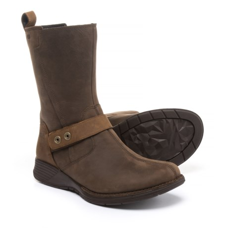 Merrell Travvy Mid Boots - Waterproof, Leather (For Women) in Clay