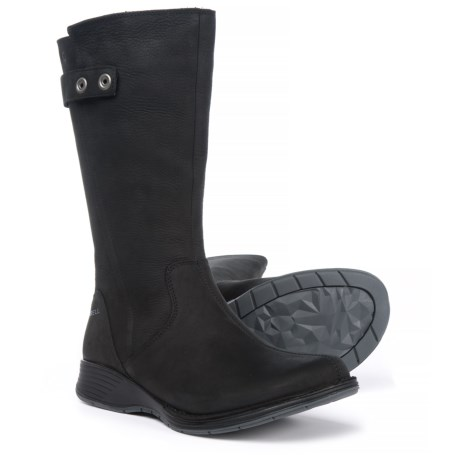 Merrell Travvy Tall Boots - Waterproof, Leather (For Women) in Black