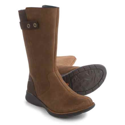 Merrell Travvy Tall Rain Boots - Waterproof, Leather (For Women) in Merrell Tan - Closeouts