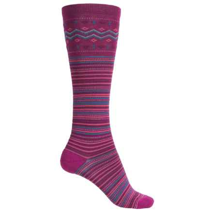 Merrell Trillium Knee-High Socks - Merino Wool, Over the Calf (For Women) in Raspberry - Closeouts