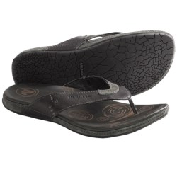 Merrell Tudor Thong Sandals - Flip-Flops, Leather (For Men) in Black