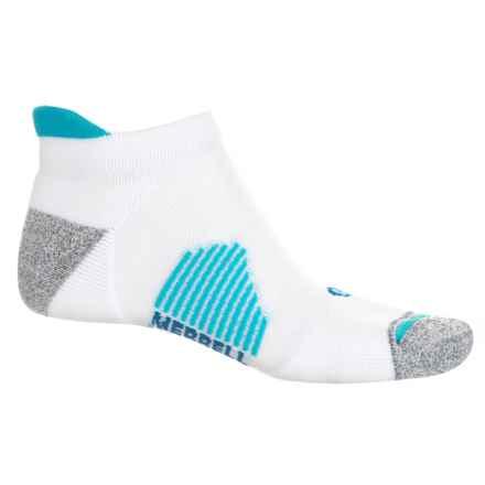 Merrell Ultralight Runner Heel Tab Socks - Ankle (For Men) in White - Closeouts