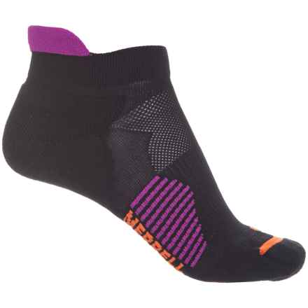 Merrell Ultralight Running Tab Socks - Below the Ankle (For Women) in Black - Closeouts
