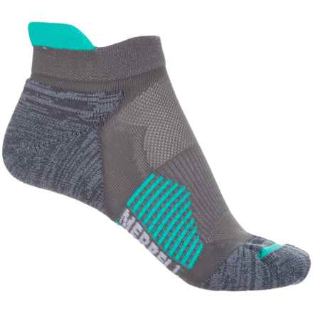Merrell Ultralight Running Tab Socks - Below the Ankle (For Women) in Monument - Closeouts