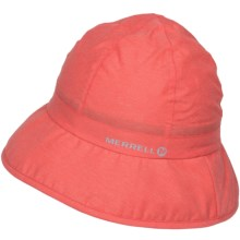 Merrell Uppark Bucket Hat - Crushable (For Women) in Nectarine Heather - Closeouts