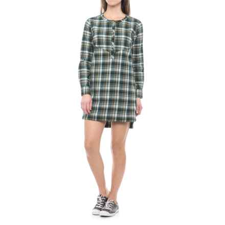 Merrell Vagabond Flannel Shirtdress - Long Sleeve (For Women) in Beech Plaid - Closeouts