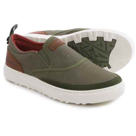 Merrell Valley Classic Moc Shoes - Slip-Ons (For Men) in Dusty Olive - Closeouts