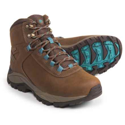 Merrell Vego Mid LTR Hiking Boots - Waterproof (For Women) in Dark Earth/Britanny Blue - Closeouts
