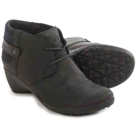 Merrell Veranda Lace Ankle Boots - Leather (For Women) in Black - Closeouts
