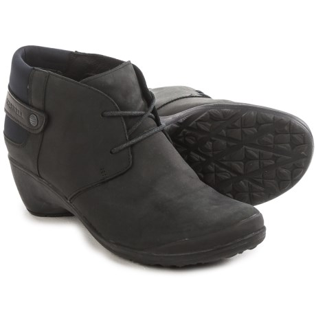 Merrell Veranda Lace Ankle Boots - Leather (For Women) in Black