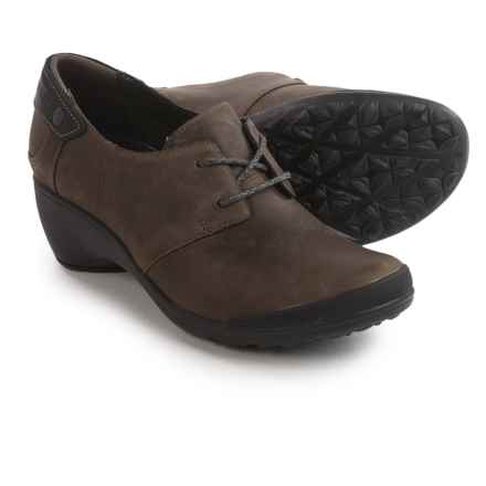 Merrell Veranda Tie Shoes - Leather (For Women) in Cloudy - Closeouts