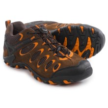 Merrell Vertis Ventilator Stretch Hiking Shoes (For Men) in Dark Earth/Marmalade - Closeouts
