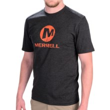 Merrell Vintage Stacked T-Shirt - Short Sleeve (For Men) in Black Heather - Closeouts