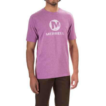 Merrell Vintage Stacked T-Shirt - Short Sleeve (For Men) in Hyacinth V Heather - Closeouts