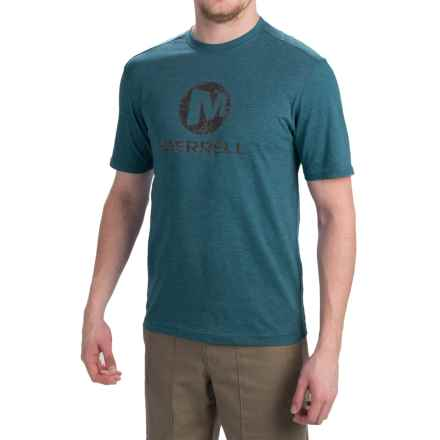Merrell Vintage Stacked T-Shirt - Short Sleeve (For Men) in Legion Blue Heather - Closeouts
