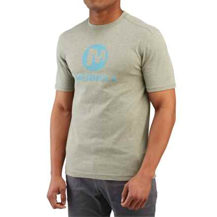 Merrell Vintage Stacked T-Shirt - Short Sleeve (For Men) in Putty Heather - Closeouts