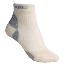 Merrell Windrush Trail Running Socks - CoolMax® Polyester, Lightweight (For Women) in Natural/Light Blue - 2nds