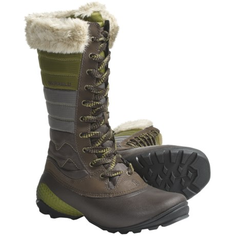 Merrell Winterbelle Boots - Waterproof, Insulated (For Women) in Silver Birch