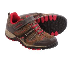 Merrell Yokota Trail Ventilator A/C Hiking Shoes (For Little Kids) in Brown/Red - Closeouts