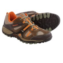 Merrell Yokota Trail Ventilator Hiking Shoes (For Big Kids) in Brown/Orange - Closeouts