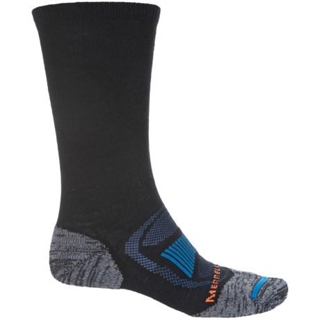 Merrell Zoned Hiking Socks - Merino Wool, Crew (For Men) in Black