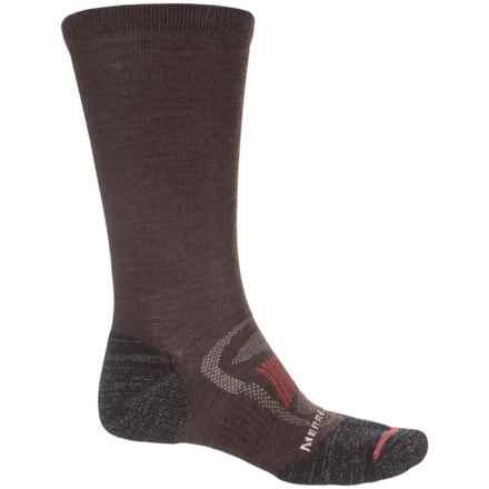 Merrell Zoned Hiking Socks - Merino Wool, Crew (For Men) in Brown Heather - Closeouts