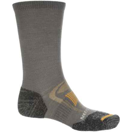 Merrell Zoned Hiking Socks - Merino Wool, Crew (For Men) in Charcoal - Closeouts