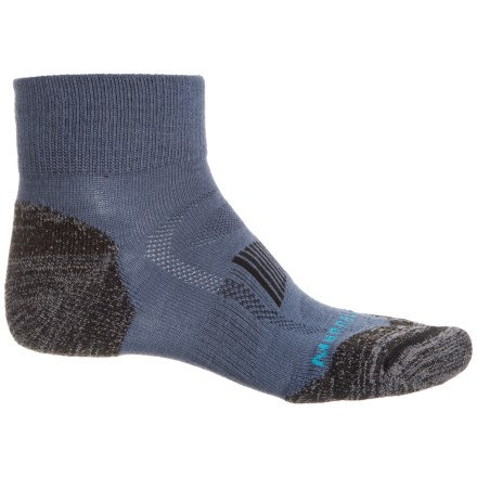 774781eb3144b Merrell Zoned Light Hiker Socks - Merino Wool, Quarter Crew (For Men) in