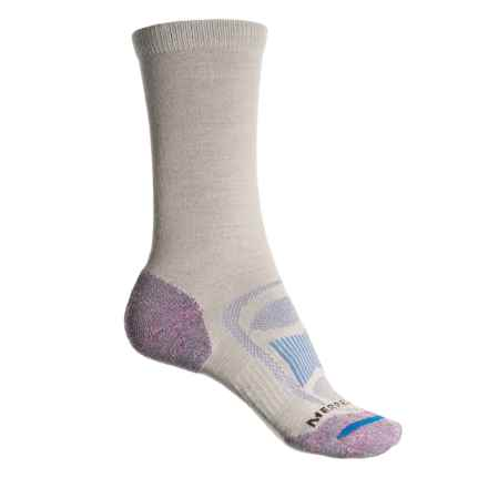 Merrell Zoned Light Hiking Socks - Merino Wool, Crew (For Women) in Light Grey - Closeouts