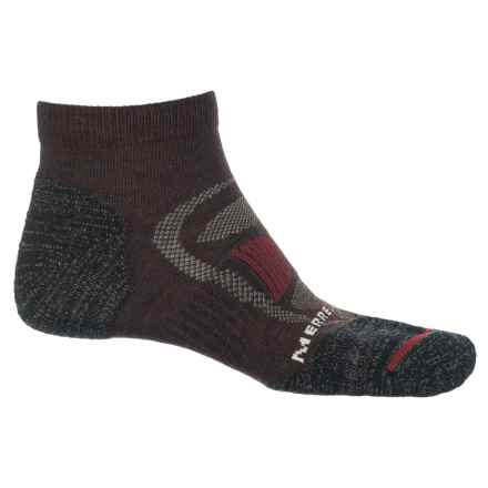 Merrell Zoned Low-Cut Light Hiker Socks - Below the Ankle (For Men) in Brown Heather - Closeouts