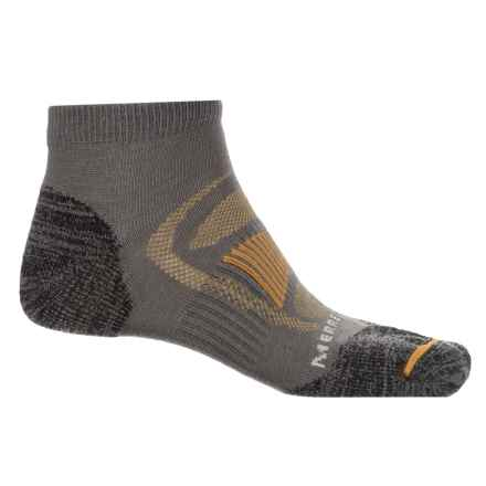 Merrell Zoned Low-Cut Light Hiker Socks - Below the Ankle (For Men) in Charcoal - Closeouts
