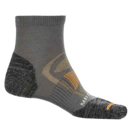 Merrell Zoned Quarter Light Hiker Sock - Merino Wool, Quarter Crew (For Men) in Charcoal - Closeouts
