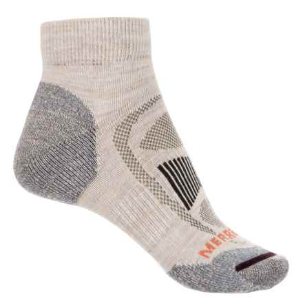 Merrell Zoned Quarter Light Hiking Sock - Merino Wool, Quarter Crew (For Women) in Oatmeal Heather - Closeouts