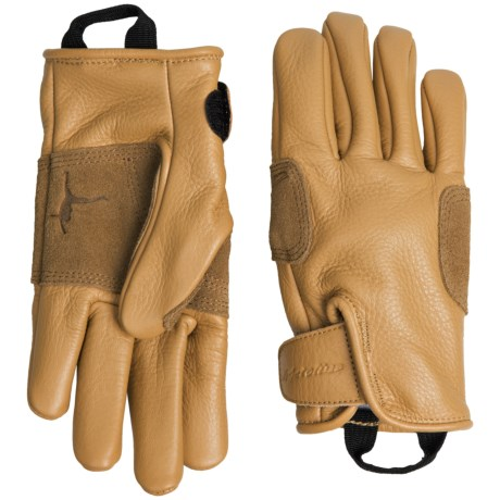 Metolius Leather Belay Gloves (For Men and Women) in Natural