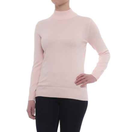 Metric Knits Mock Neck Sweater (For Women) in Veiled Rose - Closeouts