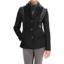 Metro Wool and Quilted Down Jacket (For Women) in Black - Closeouts