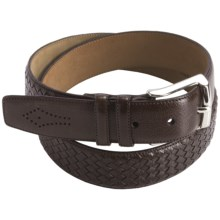 Mezlan Buffalo Leather Belt (For Men) in Dark Brown - Closeouts