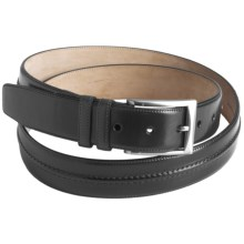 Mezlan Calfskin Leather Belt (For Men) in Graphite - Closeouts