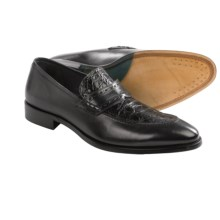 Mezlan Ciardi Shoes - Crocodile and Calfskin (For Men) in Black - Closeouts