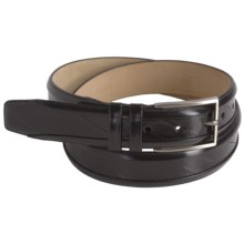 Mezlan Eelskin-Calfskin Belt (For Men) in Black - Closeouts