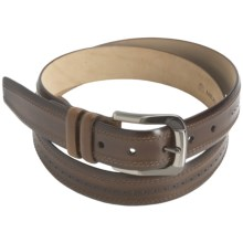 Mezlan Hand-Antiqued Italian Calfskin Belt (For Men) in Tan - Closeouts