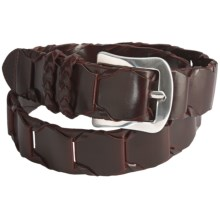 Mezlan Leather Link Belt (For Men) in Brown - Closeouts