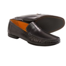 Mezlan Polanco Calfskin Moccasins (For Men) in Black - Closeouts